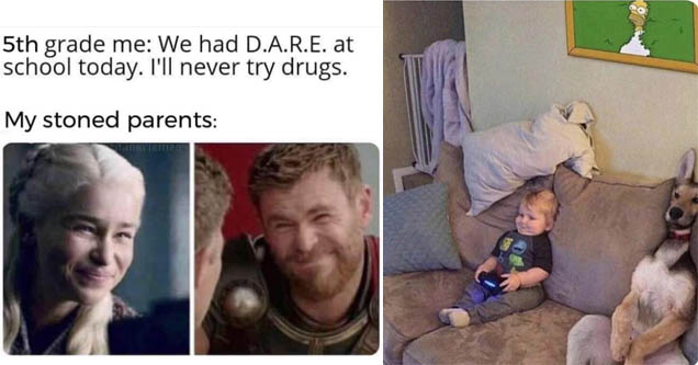 a meme from game of thrones and the avengers and a funny picture
