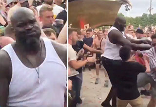 Shaq partying at Tomorrowland music festival