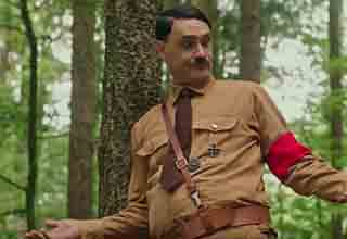 hitler looking silly in the woods