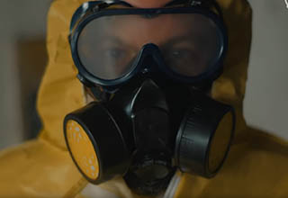 A guy dressed in a Breaking Bad style chemical suit pulls an epic prank about being a drug dealer.
