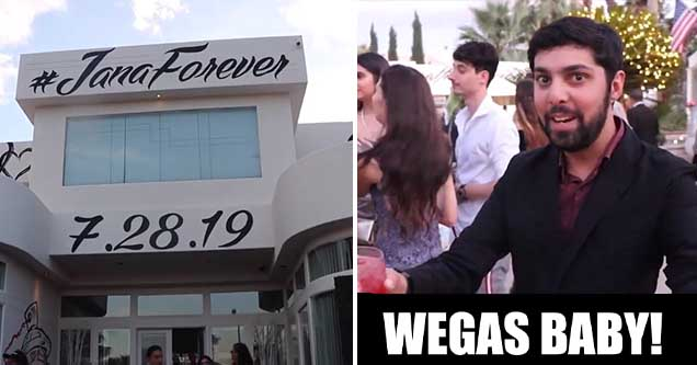 YouTuber Neel Nanda crashes Jake Paul and Tana Mongeau's wedding in Las Vegas