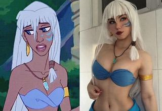 brazilian cosplayer maria fernanda as the princess from Atlantis
