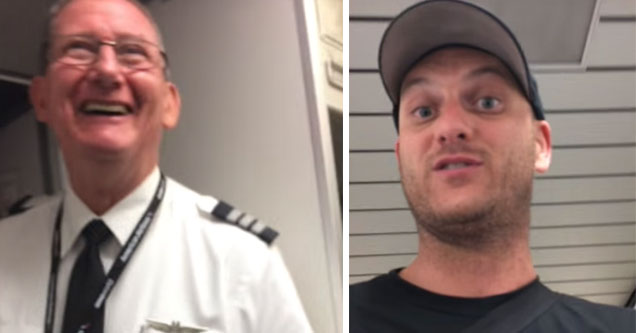 flat earther confronts commercial pilots about the flat earth theory