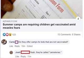 holy shit you fucking killed her dude - Immunization Form Dose 1 Azfamily.Com Summer camps are requiring children get vaccinated amid measles fears 00123 13 6 Carla Do they offer camps for kids that are not vaccinated? 15m Edited Josh Yeah, they're called