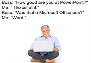 good are you at powerpoint i excel - Boss How good are you at PowerPoint