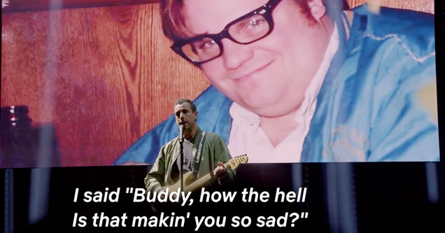 Adam Sandler singing his tribute song to Chris Farley on his Netflix Special 100 percent fresh