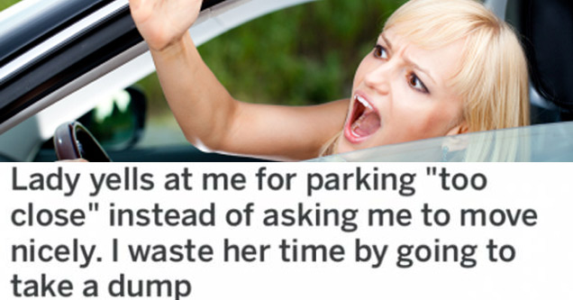 a blonde woman yelling with text about being impatient