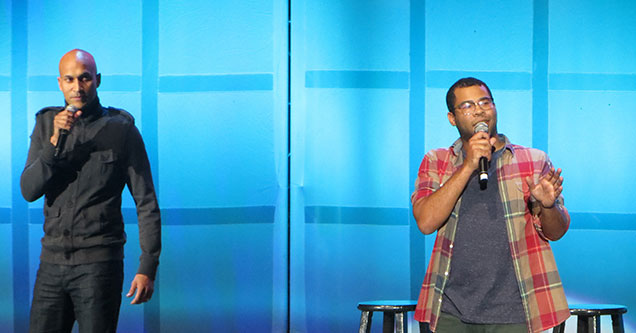 Key and Peele get boo'd off-stage at comedy jam 2012