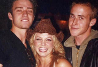 brittney spears, justin timberlake, and ryan gosling clubbing in 2001