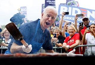 Joe Biden happy to be at the Iowa Steak fry