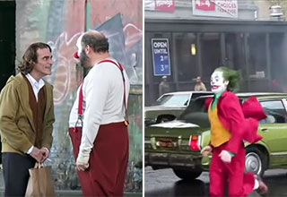 behind the scenes footage from the new joker movie