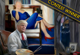 Use your Photoshop skills to show us what the President is painting a picture of for a chance to win $50 bucks.