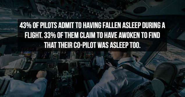 a fact about airline pilots sleeping on the job