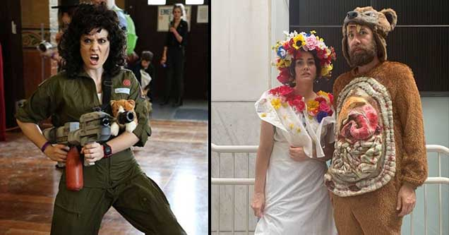 Great examples of cosplay including a Midsommer couple.