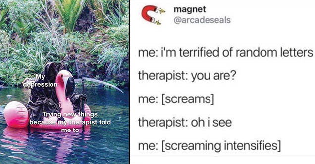 Therapy memes that will help you out on a bad day.