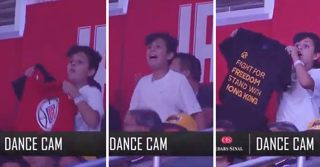 Kid trolls NBA dance cam