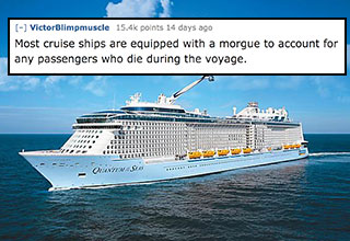 crazy fact about people who die on cruise ships