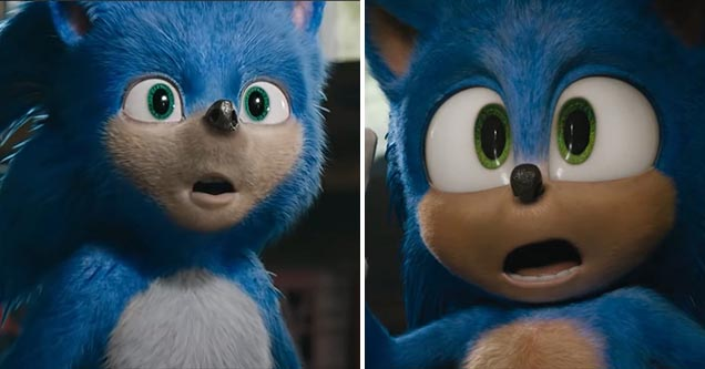 Check out the difference between the old 'cursed' Sonic and the brand new redesigned version, incredible.