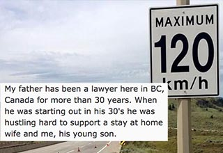 A Canadian sign loophole meant this guy's father could get out of every speeding ticket and he did it for years.