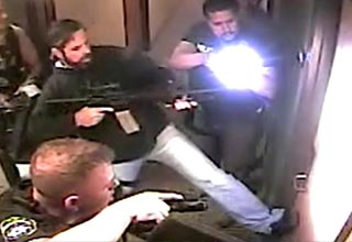 texas police officers breaking into a home to save a girl