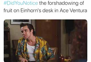 ace ventura fruit on desk - Lady Lovecraft the forshadowing of fruit on Einhorn's desk in Ace Ventura