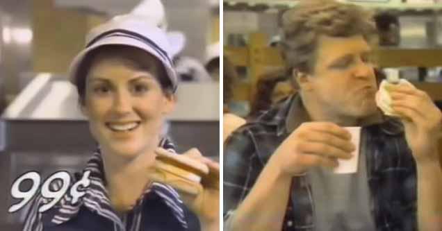 Megan Mullally and John Goodman in 1983 McDonald's ad