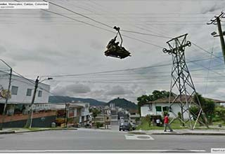 What a sight to... unsee; but you can't! Wild and crazy things pulled from the depths of streetview on Google Maps.