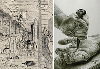An artists can come from anywhere and anyone can be an artist, so it should be a surprise that these prison works rival those works of the greats like Rembrandt and Van Gogh.