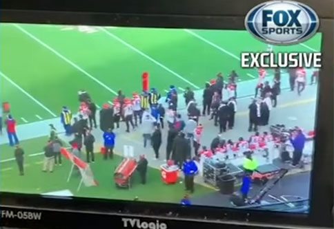footage of the Bengals sideline taken by Patriots staff that appears to prove cheating was going on in the game