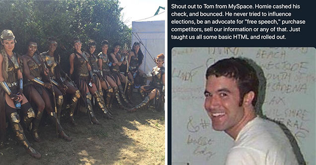funny memes and pics to make your day | wonder woman amozons crew | human - Blerds Online Shout out to Tom from MySpace. Homie cashed his check, and bounced. He never tried to influence elections, be an advocate for