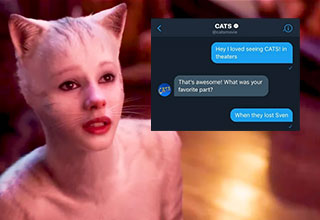 Cats has been deemed a major flop and the official Cats Twitter account is not here for your shenanigans.