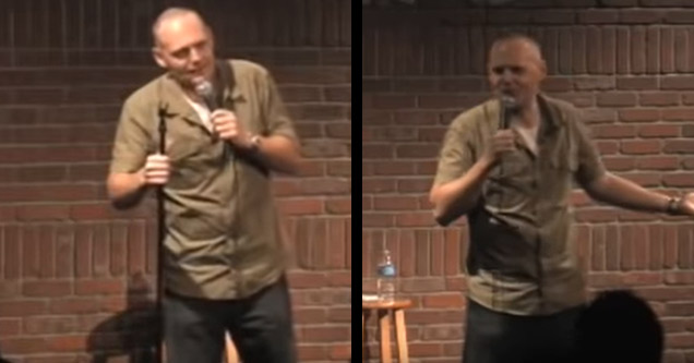 video of a comedian named bull burr has a comedic interaction with a blind man during one of his routines   | bill burr doing stand up comedy
