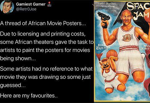 These bootleg movie posters made In Africa are as funny as they are bad.