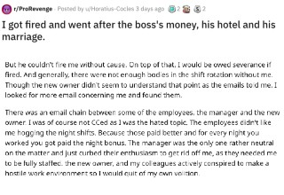 A hotel employee gets revenge on absolutely everyone after they conspired against him to the point of getting him fired. Don't piss off the guy who knows where the bodies are buried.