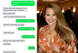 woman gets over 100 text messages from creepy American Airlines employee