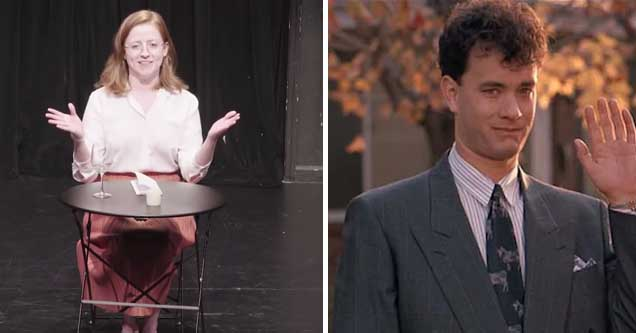 Comedian pretends to be the woman who f***s Tom Hanks in 'Big'