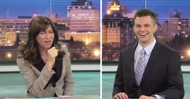 News anchor gets naughty when describing how her son used her toothbrush for teething. The other anchors response is priceless.