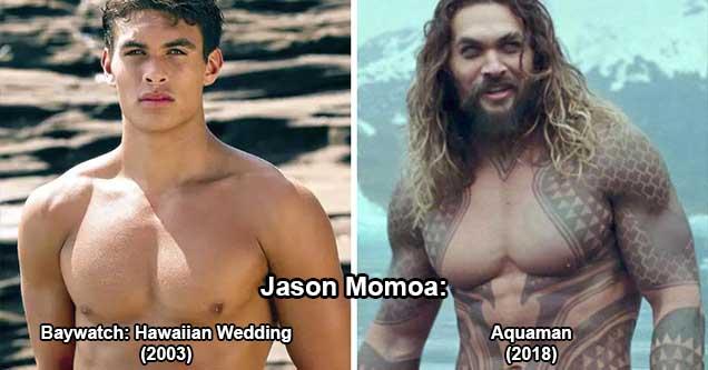 list of actors in their first acting jobs    Jason Momoa: Baywatch: Hawaiian Wedding (2003) - Aquaman (2018)