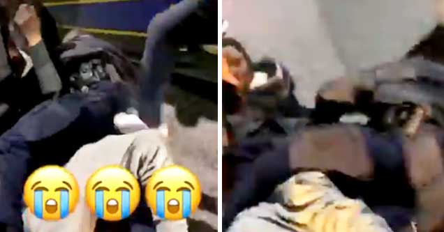 Baltimore police officer's arrest interrupted by unruly mob