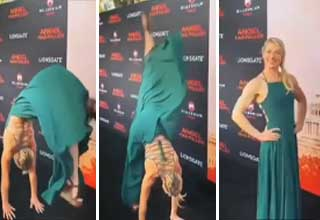 Jessie Graff does backflip on red carpet for 'Angel Has Fallen'