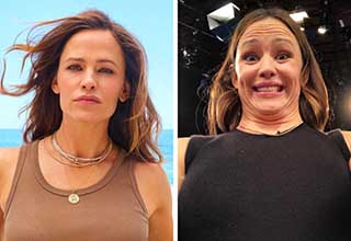pic of celebrities in in pretty vs ugly photos | Jennifer Garner in glamour shot and ugly selfie