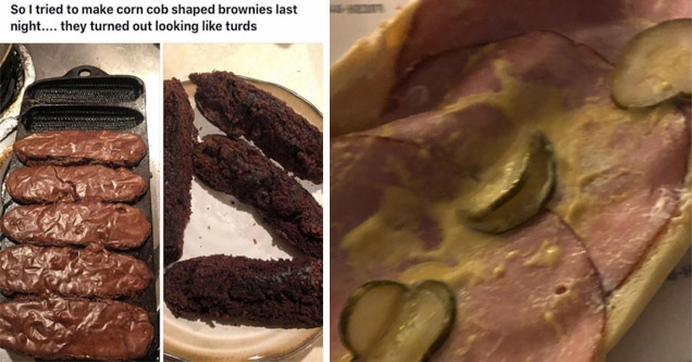 expectations vs reality memes | corn shaped brownies - Michael Dolan February 1.0 So I tried to make corn cob shaped brownies last night.... they turned out looking turds | fast food - online.m ons.com Con, Smoked Ham & Cheese sliced pick iyo & Dijon Jimm