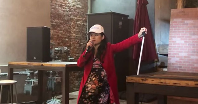 female crazy comedian  | crazy asian chick has been banned from every club in LA