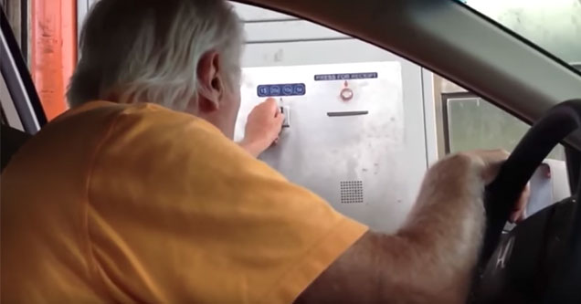 funny video of an angry grandpa | Grandpa is pushed to his limit while trying to pay for parking