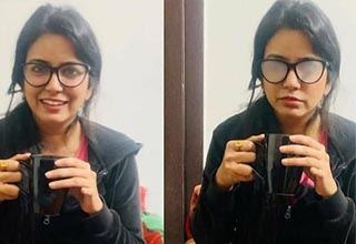 funny bunch of random pics | a lady with her glasses steamed up from a mug