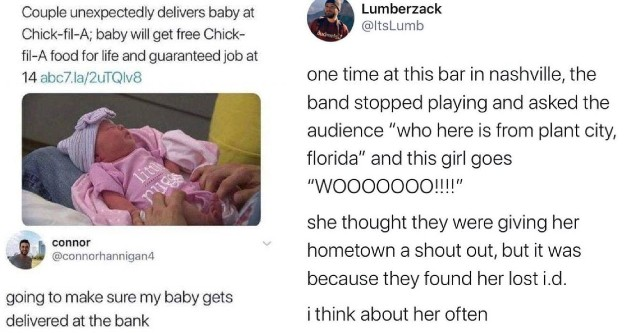 Humpday memes and tweets that are getting us through the week. | birth memes - abc ABC7 Eyewitness News Couple unexpectedly delivers baby at ChickfilA; baby will get free Chick filA food for life and guaranteed job at 14 abc7.la2uTQlv8 connor going to mak
