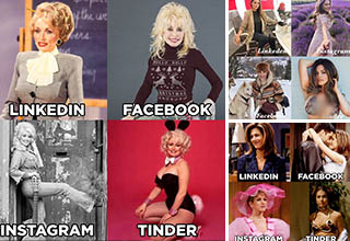 Celebrity versions of the Dolly Parton challenge
