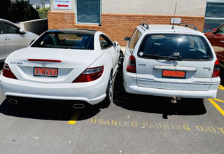 entitled people making dumb posts online | personal luxury car - Parking Dow Rar 012 Issued Aring On