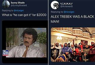 After someone on Twitter shared a picture of a young Alex Trebek, many people from the 'Black Delegation' have come to get their man.