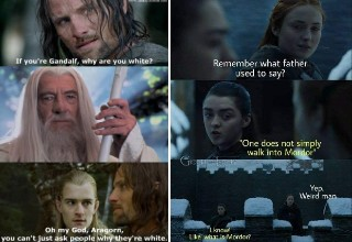 "<em>Lord of the Rings</em> is just one of those movies that has been a <a href=""https://knowyourmeme.com/memes/subcultures/lord-of-the-rings"" target=""_blank"" style=""text-decoration:none; font-weight:bold;"">meme-making machine</a>.  Although the films are nearly two-decades old, they continue to have a huge amount of new memes being created on a daily basis, largely due to a <a href=""https://www.reddit.com/r/lotrmemes/"" target=""_blank"" style=""text-decoration:none; font-weight:bold;"">thriving subreddit community</a>, and very much like <a href=""https://www.ebaumsworld.com/pictures/29-star-wars-memes-to-help-you-claim-the-high-ground/85902657/"" style=""text-decoration:none; font-weight:bold;"">Star Wars Prequel memes</a> and <a href=""https://www.ebaumsworld.com/pictures/31-the-office-memes-that-will-remind-you-to-watch-the-office-today/86072606/"" style=""text-decoration:none; font-weight:bold;"">The Office memes</a>. <br><br> Check out a handful of the best and funniest memes that <em>Lord of the Rings</em> has to offer. You have my sword, and my bow, and my axe, and more importantly, these memes."